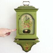 Eluxa Vintage Swiss Wall Mantel Top Clock + Console Rarity Neuchatel Bell Chime