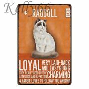 Vintage Lovely Cats Metal Sign Love My Cat Tabby Black Cat Tin Poster Decor Gift