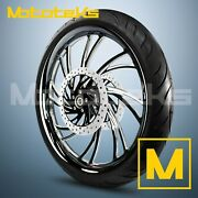 26x3.75 Black Neo Fat Mag Wheel Billet For Harley Touring Bagger Rotors Tire