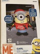 Gemmy 2017 Christmas 9andrsquo Airblown Despicable Me Carl Minion W/sweater Inflatable