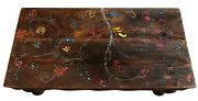 Antique Tree Of Life Painted Coffee Table Accent Table Reclaimed Wood Unique