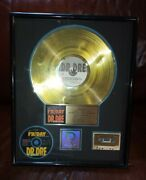 Dr. Dre Friday Riaa Gold Sales Award Authentic 21x17
