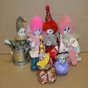 6 Vintage Porcelain Clowns - Russ Berrie And Co. Westland Brinnand039s