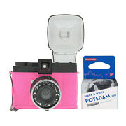 Lomography Diana F+ Camera And Flash Mr. Pink Edition With Bandw 35mm Film Roll