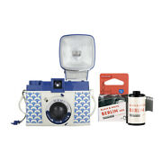 Lomography Diana F+ Camera And Flash Nami Edition With Bandw 35mm Film Roll