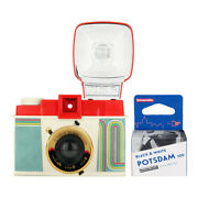 Lomography Diana F+ Camera And Flash 10 Yrs Of Diana Edition With Bandw Film Roll