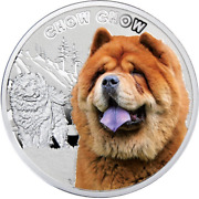 Niue 2014 1 Chow Chow Dog Manandrsquos Best Friends Proof .999 Silver Coin Coa And Ogp B