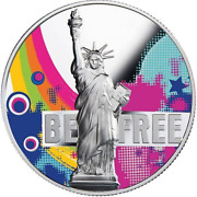 2018 Freedom Is The Oxygen Of The Soul Statue Of Liberty 2 Oz Proof Silver Coin