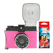 Lomography Diana F+ Camera And Flash Mr. Pink Edition With Color Films