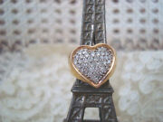 Exquisite Preowned Vintage 14 Kt Gold Large Diamond Heart Ring So Pretty