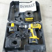 Dewalt Dw980 Heavy Duty Xrp 1/2 Cordless Drill 12v 2 Battery 2 Charger Case