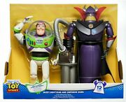 Nip Toy Story 12.5 Buzz Lightyear And 14 Emperor Zurg Talking Action Figures