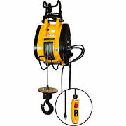 Oz Lifting 1/2 Ton Electric Wire Rope Hoist 90and039 Lift 37 Fpm 115v