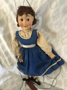 Antique All Original Marionette Lobster Girl Doll From Germany In Good Condition