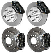 Wilwood Disc Brake Kit,65-72 Dodge A-body,plymouth,11,w/pb Cable,black