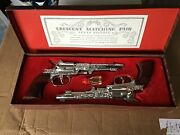 Vintage Crescent Toys Matching Pair Texan Pistols Toy Set 1950's Very Rare