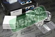Cp Forged Pistons With Hd Pins Acura K20a/a2/a3/z1/z3 Rsx 86.5mm 9.01