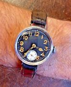 1916 Ww1 Fontainemelon Silver Pilots Military Watch Dial Borgel Mallory Wwi Wwii