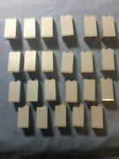 K-1 Lego Lot 23 Old Light Gray 2 X 2 X 3 Slope Hollow Stud 3684a 6085 10123 6089
