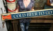 Vintage 1969 Rare Budweiser Bowtie Cold Beer To Go Lighted Beer Bar Sign