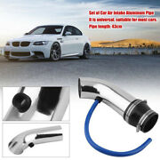 Universal 75mm/3and039and039 Car Suv Cold Air Intake Induction Pipe Kit Filter Tube System
