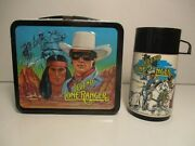 Metal Lunch Box Thermos Lone Ranger