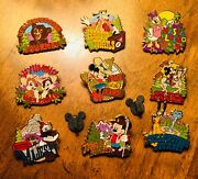 Quest For West Adventures By Disney Wyoming 9 Pins Mickey Mouse Goofy Chip Dale