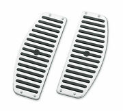 Harley Oem New Chrome And Rubber Touring Raider Footboard Floorboard Inserts