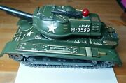 M-3599 Army Tin Plate Toy Tank Military Armored Vehicle Modern Toys Japan 60s