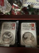 2 Coin Set Of Ww2 Proof 70 And Medal. This Is A First Release Set. Both Coins