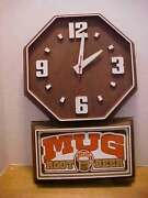 Mug Old Fashioned Root Beer Vintage Electric Wall Clock Free Ship