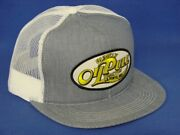 Rumely Oil Pull Tractor Hat - Denim/white Mesh - K Brand K Products-us Assembled
