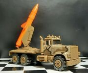Used Camo Military Mack Stomper 4x4 Missile Semi Truck Toy See Desc.