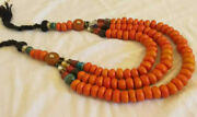 Moroccan Berber Amber Necklace Traditional African Resin Beads 3 Strands Unique