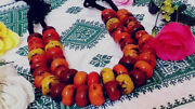2 Moroccan Amber Resin Necklaces Handmade African Jewelry Tribal Berber Beads
