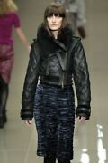 Prorsum Fw10 Quilted Shearling Leather Aviator Bomber Jacket It 38 Us 4