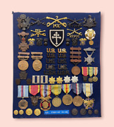 Ww1 Us Army And Pennsylvania National Guard Medal And Badge Collection Identified