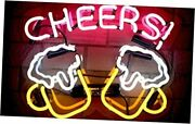 Cheers Real Glass Neon Signs Beer Bar Club Bedroom Neon Lights For Cheers Pink