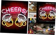 Cheers Glass Neon Signs Beer Bar Club Bedroom Glass Neon Lights Sign For