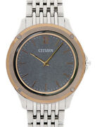 Used Citizen Eco-drive One Ar5004-59h8826 Gray Menand039s Wrist Watch From Japan