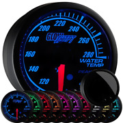 Glowshift 10 Color Digital 300 F Water Coolant Temperature Gauge Kit - Includ...