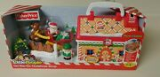 New Fisher Price Little People On The Go Christmas Shop Santa Claus Reindeer