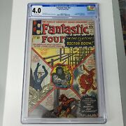 Fantastic Four 17 Cgc 4.0 Ow Pages John F. Kennedy And Ant-man Cameo Marvel 1963