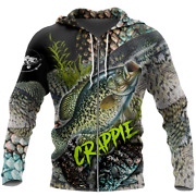 Crappie Fishing On Skin Zipper Hoodie 3d All Over Printed Unisex Size S-5xl