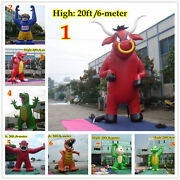 20ft 6m Inflatable Advertising Giant Monster Gorilla Buddy Crocodile W Blower A