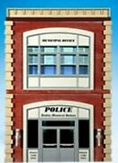 O Scale - Police Station - Front Only - Ogr-68
