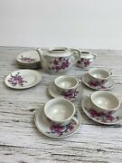 Vtg Childs Miniature Toy China Magnolia Tea Set Made In Japan 16 Pcs Incomplete