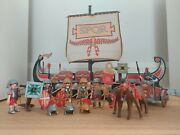 Playmobil 5390 With Extra. Roman Ship With Horses And Soldiers Plus Accessories