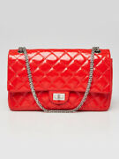 Red 2.55 Reissue Quilted Patent Leather 226 Flap Bag