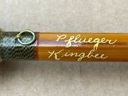 Rare Vintage Antique Pflueger King Bee 2930 Bamboo Fly Fishing Rod 9' 6